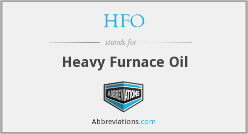 HFO - Heavy Furnace Oil