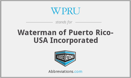WPRU - Waterman of Puerto Rico- USA Incorporated