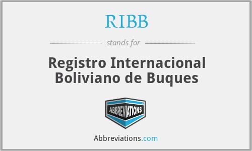 RIBB - Registro Internacional Boliviano de Buques