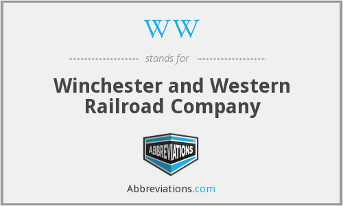WW - Winchester and Western Railroad Company