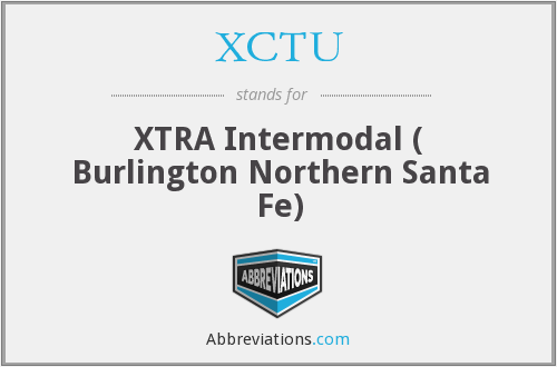 XCTU - XTRA Intermodal ( Burlington Northern Santa Fe)