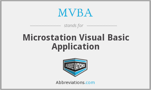 MVBA - Microstation Visual Basic Application