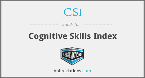 CSI - Cognitive Skills Index
