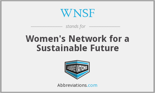 WNSF - Women's Network for a Sustainable Future