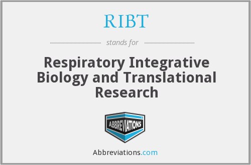 RIBT - Respiratory Integrative Biology and Translational Research