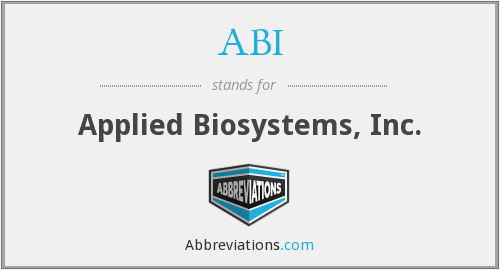 ABI - Applied Biosystems, Inc.