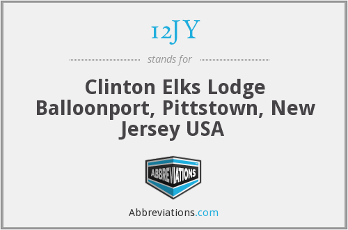 12JY - Clinton Elks Lodge Balloonport, Pittstown, New Jersey USA