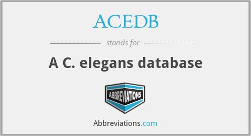 ACEDB - A C. elegans database