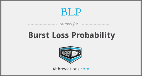 BLP - Burst Loss Probability