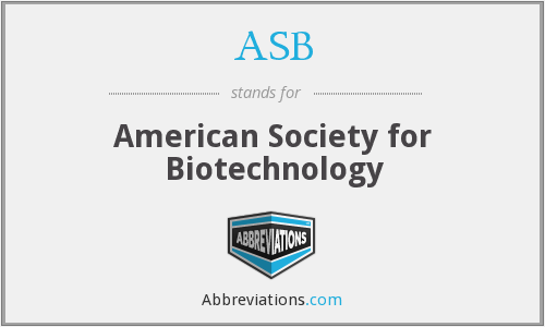 ASB - American Society for Biotechnology