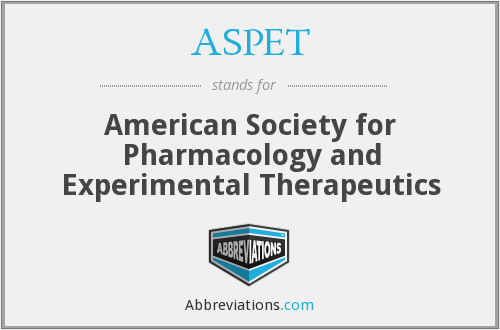ASPET - American Society for Pharmacology and Experimental Therapeutics