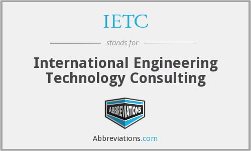 IETC - International Engineering Technology Consulting