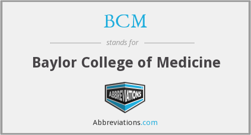 What does BCM stand for?