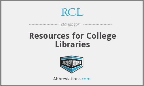 RCL - Resources for College Libraries