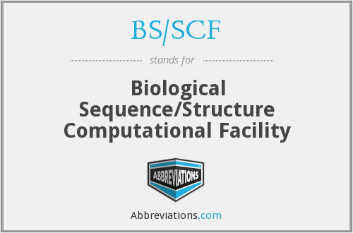 What does BS/SCF stand for?
