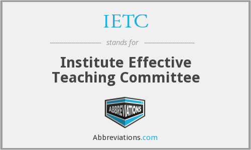 IETC - Institute Effective Teaching Committee