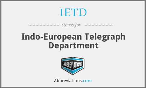 IETD - Indo-European Telegraph Department