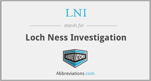 LNI - Loch Ness Investigation