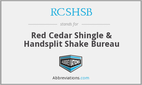 What does RCSHSB stand for?