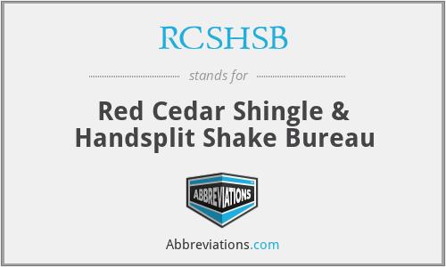 RCSHSB - Red Cedar Shingle & Handsplit Shake Bureau