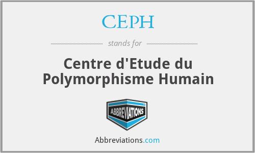 CEPH - Centre d'Etude du Polymorphisme Humain