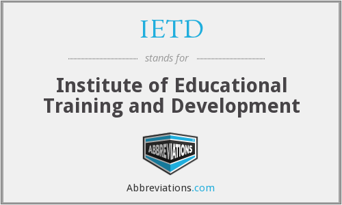IETD - Institute of Educational Training and Development