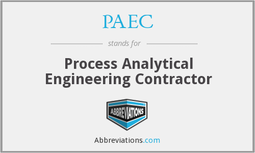 PAEC - Process Analytical Engineering Contractor