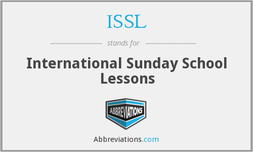 ISSL - International Sunday School Lessons