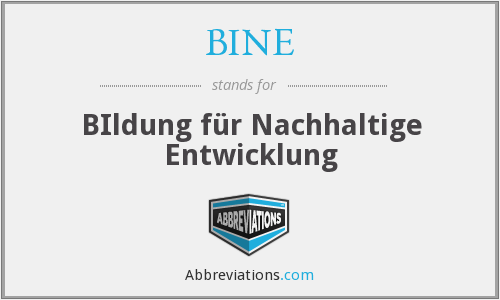 What does BINE stand for?