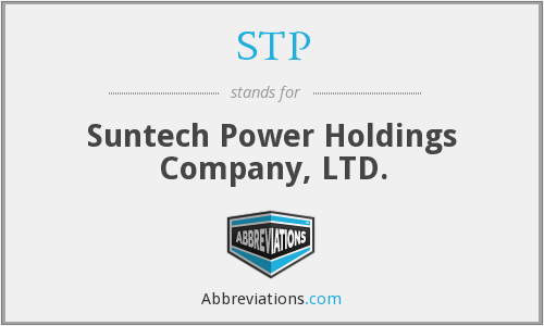 STP - Suntech Power Holdings Company, LTD.