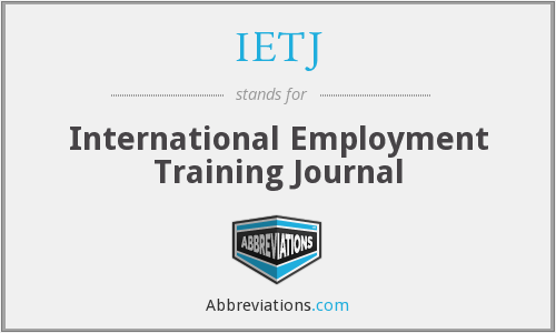 What does IETJ stand for?