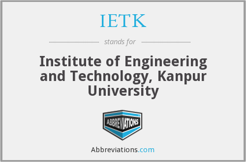IETK - Institute of Engineering and Technology, Kanpur University