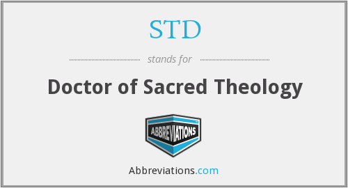 STD - Doctor of Sacred Theology