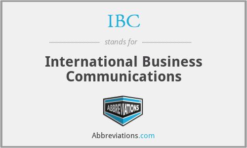 IBC - International Business Communications