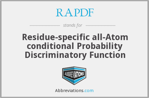 RAPDF - Residue-specific all-Atom conditional Probability Discriminatory Function