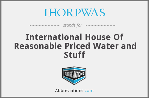 What does IHORPWAS stand for?