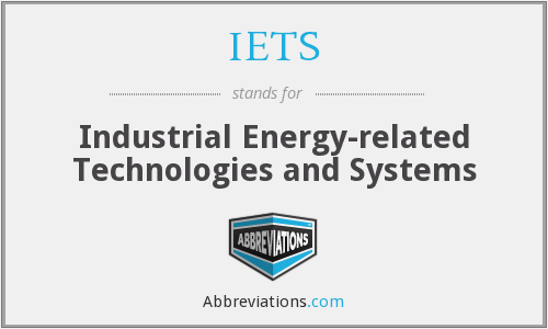 IETS - Industrial Energy-related Technologies and Systems