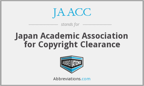 JAACC - Japan Academic Association for Copyright Clearance