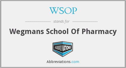 WSOP - Wegmans School Of Pharmacy