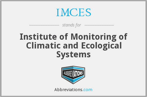 IMCES - Institute of Monitoring of Climatic and Ecological Systems