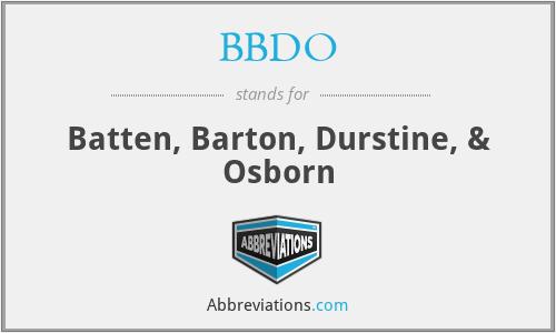 BBDO - Batten, Barton, Durstine, & Osborn