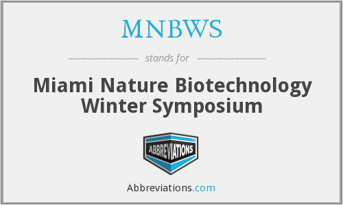MNBWS - Miami Nature Biotechnology Winter Symposium