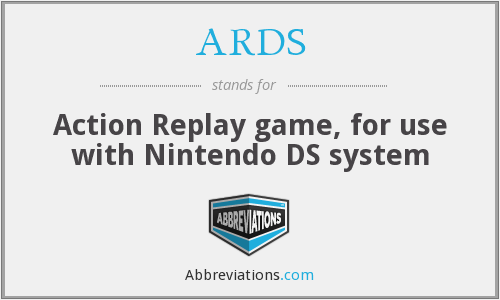 ARDS - Action Replay game, for use with Nintendo DS system