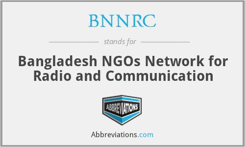 BNNRC - Bangladesh NGOs Network for Radio and Communication