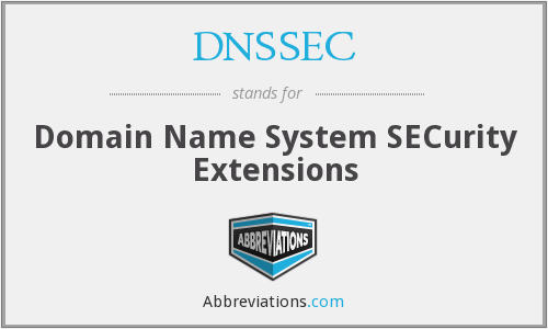 What does DNSSEC stand for?