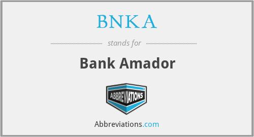 BNKA - Bank Amador