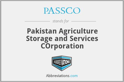 PASSCO - Pakistan Agriculture Storage and Services COrporation