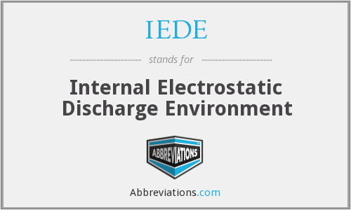 IEDE - Internal Electrostatic Discharge Environment