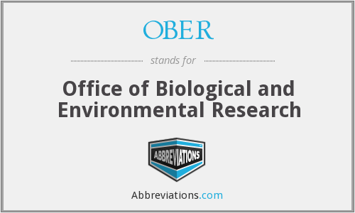 What does OBER stand for?