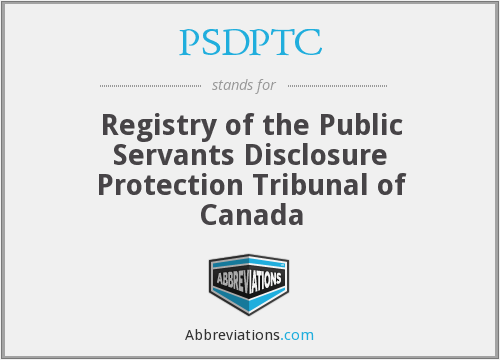 PSDPTC - Registry of the Public Servants Disclosure Protection Tribunal of Canada